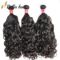 Wholesale 7A Virgin Brazilian Hair Weave Natural Wave Cambodian Peruvian Malaysian Indian Remy Hair Extensions Natural Color Human Hair Bella Hair