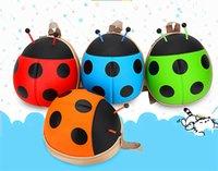 Wholesale child cartoon ladybug bettle backpack kid cute animal double shoulder bag kindergarten school bag baby travel bag