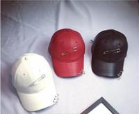baseball pinball - PU iron ring personality pinball stage shopping baseball hip hop duck tongue hats Fall and Winter tide
