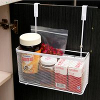 Wholesale Practical kitchen cabinet organizer door hanger storage basket spice rack racks with hook container kitchen supplies