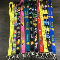 Wholesale Poke Mobile Phone Straps Pikachu Mobile Cell Phone Lanyard Neck Straps Party Gifts Cartoon Action Sylveon Lanyard OOA479