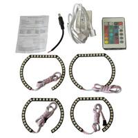 amber rgb - 3sets Color SMD LED RGB Error Free Angel Eye Halo Ring Kit Head Light with Remove Control For BMW E36 E38 E39 E46 M3 Series