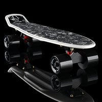 Wholesale Shipping professional skateboarding four skate wheel skateboard novice plate plate single rocker banana fish