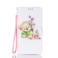 Wholesale Bike Bear Eye Flower Wallet Leather case holder stand for Iphone se se plus Samsung S7 edge A310 A510 G530