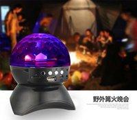 Wholesale Explosion model wireless Bluetooth LED stage stereo light speaker radio mini stereo square dance speaker LED