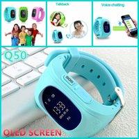 Smart Kid Safe Montre GPS Wristwatch Q50 SOS Appel Location Finder Locator Tracker Avec écran OLED pour Kid enfant Anti perdu Baby Monitor