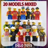 Wholesale online hot items plastic toys building blocks bricks career minifigures mixed without Key ring delo toys