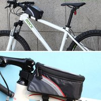 big bike bag - Big Size inch Waterproof Outdoor Cycling Mountain Road MTB Bike Riding Bicycle Bag Package Front Tube Mobile Cell Phone GPS