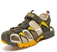 Wholesale Children Sandals High Quality Genuine Leather Children Sports Sandals Anti slip Soft Boys Girls Summer Sandals Sandals Clogs