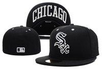 al por mayor moda sombreros de copa baratas-estilo de la manera de calidad superior Chicago White Sox viejo estilo del diseño de los sombreros de béisbol armarios barato alas planas deporte precio al por mayor cerradas hombres del casquillo de las mujeres