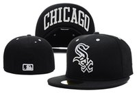 baseball cap brim styles - fashion style Top Quality Chicago White Sox Old Style Design baseball fitted hats cheap price sport flat brim closed men women cap