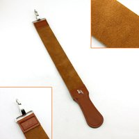 Wholesale Brand New High Quality Durable Double Deck Canvas Genuine Cow Leather Strop Sharpening For Straight Edge Razor