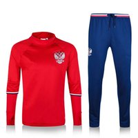 Wholesale Clothing custom Russia national football team training jersey jogging pants Russia national football team training the quali