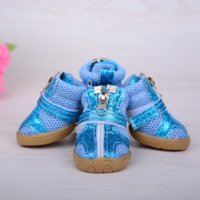 Wholesale New hot set dog shoes Leisure breathable non slip small dog shoe Fashion Sports pet net shoes for dogs