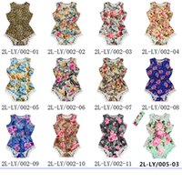 Wholesale Kids Baby Girls One Piece Romper New Arrival Vintage Floral Jumpsuit Bodysuit with Free Headbands Clothing Sets