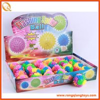 Wholesale Intersting lovely and funny plastic material LED Flash BAll for baby or child flashing a colorful rainbow