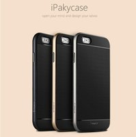 Wholesale Hybrid ipaky Soft TPU Frame Bumper Gel Silicone Rubber Case Cover Skin Shell Protector for Iphone Case inch