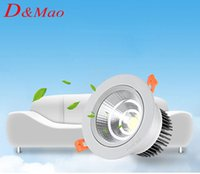 Wholesale 2016 Newest CREE5W7W10W12W15W COB LED Downlights Dimmable Non V Power Driver Tiltable Fixture Recessed Ceiling Down Lights Lamps CSA