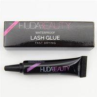 Wholesale HUDA beauty Eye Lash Glue White black Makeup Adhesive Waterproof Fast Drying False Eyelashes Lady makeup tool g DHL