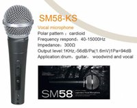 Wholesale Professional wire microphone SM Top Quality Version Vocal Karaoke Handheld Dynamic Wired Microphone Real Transformer Inside Mic Stage
