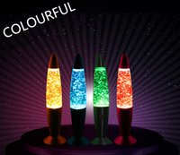 Wholesale 13 inch Colorful Night Light Rocket Lava Lamp LED Lights LED Glitter Gifts Christmas Gifts Party Wedding Gifts