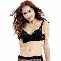 Wholesale 2016 Hot Sexy Fashion New Underwear Full Cup Coverage Minimizer non padded Lace Sheer Bra Size