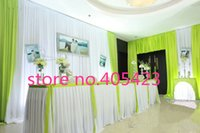 banquet table height - 13ft quot M height luxury white colorful Wedding decoration ice silk props desk banquet skirting runner table Skirt