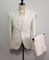 banquet designs - Custom Made New Design Banquet Man Suits Peaked Lapel One Button Groomsman Tuxedos Men Wedding Suits