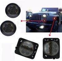 Wholesale 2pcs LED Front Turn Signal and Fender Flare Side Marker Lights for Wrangler JK