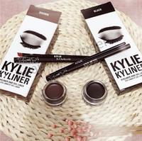 Wholesale KYLIE KYLINER LIP KIT Eye Liner Eye Liner gel pen eye shadow brush set of three sets of eye shadow brush