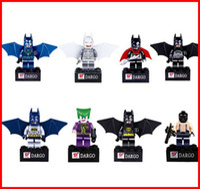 batman pack - Box packing super hero Avengers Batman Minifigures Building Block Sets DIY figure Doll Minifigs block educational toy Children hot