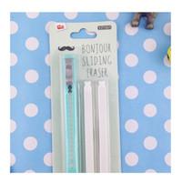 Wholesale Grip Retractable Click Eraser Bundle with Pack Refill Penstyle Eraser blue
