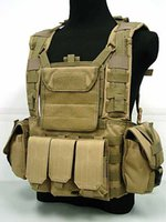 Wholesale Military Tactical Paintball Army Gear Black Tan MOLLE Carrier Airsoft Combat Tactical Vest