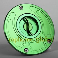 Wholesale CNC petrol cap for Kawasaki ZX6R green color Fuel Pump