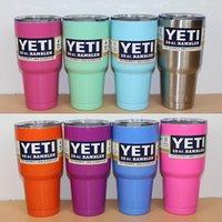 Wholesale 30 oz Custom Yeti Rambler Tumbler Cup Yeti Tumbler Stainless Steel Tumbler Double Wall Vacuum Insulated Cup Travel Mug IN STOCK