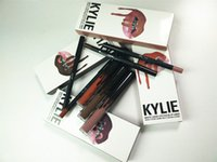 Wholesale Fast ship Kylie Lip Kit by kylie jenner Velvetine Liquid Matte Lipstick Lip Pencil Lip Gloss Set colors
