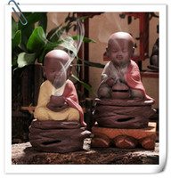 Wholesale little monk chanting incense ceramic sand disc Xiangxiang sandalwood incense incense stove ornaments