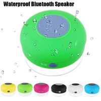 Wholesale Speakers Waterproof Shower Bluetooth mini Speaker Handsfree Mic Suction Chuck Wireless Portable Mini MP3 Player Speaker