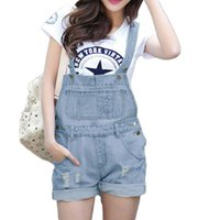 Wholesale S M L XL HOT SALE Women Girls Washed Jeans Denim Casual Hole Jumpsuit Ladies Romper Overall JEANS Short G0616
