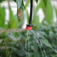 Wholesale 100Pcs Lowest Price Garden tools hole red drops head Micro Drip Irrigation Watering Anti clogging Emitter Drippers