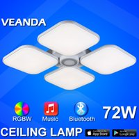 Wholesale LED ceiling light W bluetooth APP Music play wireless dimmable RGB ceiling light multi function surface mounted light fashion furniture