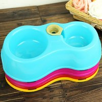 Wholesale Pet Dog Cat Bowls Plastic Feeding Feed Water Feeders Travel Food Bowls Dish Food Container JJ0001