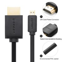 acer lcd cable - Ugreen Micro HDMI Cable for Micro Surface Lenovo Pad Acer A500 W500 to Connect LCD TV Display HDMI Cable for Cellphone Male Male
