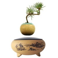 Wholesale 2016 High Tech Magnetic Floating Magnet Bonsai Air Plant Ceramics Pottery Bonsai Pots Birthday Gifts for Women No Plant N