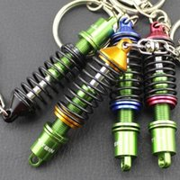 auto parts suspension - Novelty Auto Parts Key Chains Ring Creative Adjustable Suspension Car Keyring keychain jewelry colors