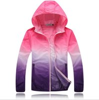 Wholesale Unisex Hooded Jacket Fashion Casaul Outdoor Sports Clothes Men s Sun Block Uv Protection Women Quick dry Clothing Ski wear