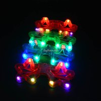 Wholesale Fun Fashion Cool Light Up Star Glasses LED Flashing Blinking Eye Glasse Birthday Party Supplies Gift Decorations