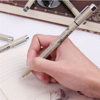Wholesale 9pcs Sakura Pigma Micron Neelde Soft Brush Drawing Pen Portable Sketch Pens Hook Nib Sizes Brush High Quality