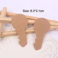 Wholesale Blank Key Shape Garment Hangtags DIY Red Wine Message Card With Brown Cords Packaging Labels