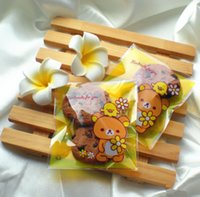 bear snack - 100pcs Lovely Bear Style Self adhesive Cookie Snack Baking Plastic Bag Christmas Wedding Gift and Candy Packaging Bag B093